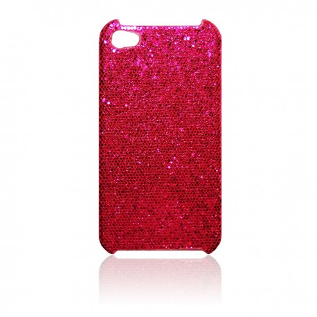iPhone 4 / 4S Skal Glitter: Rosa