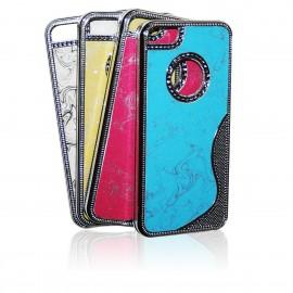 iPhone 5 Skal Glitter Psykadelisk + Skärmskydd
