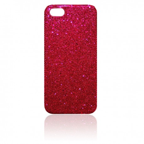 iPhone 5 Skal Glitter: Rosa
