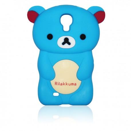 Samsung Galaxy S4 TPU Skal Nalle: Blå