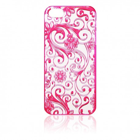 iPhone 5 Skal Floral: Rosa