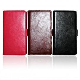 Sony Xperia Z Läderplånbok + Skärmskydd